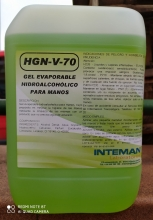 Gel Evaporable Hidroalcohólico Intemán para Manos 5 Litros