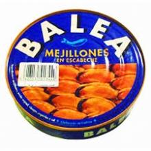 Mejillones escabeche BALEA 35/45 piezas, lata RO-1000gr