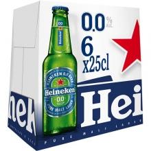 Heineken 0,0 25cl son 4 pack de 6 unidades.
