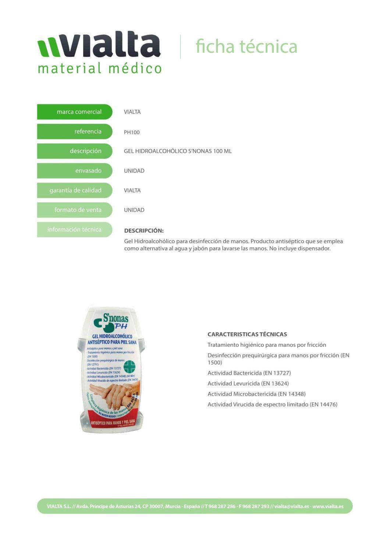 Gel de bolsillo Hidroalcohólico S´NONAS 100ml